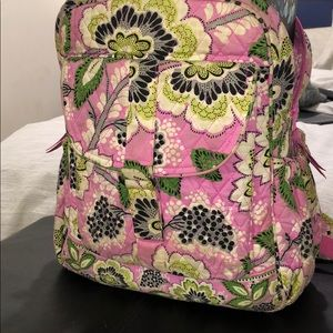 Floral quilted Backpack